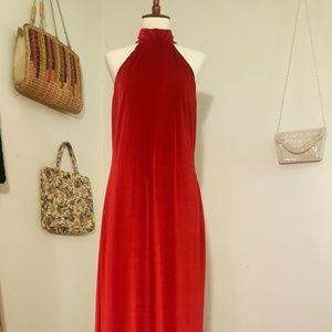 Dresses & Skirts - Velvet Halter Dress